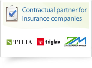 Contractual partner for insurance companies: Tilia, Triglav