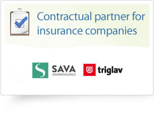 Contractual partner for insurance companies: Sava, Triglav